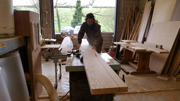Making a dining table top