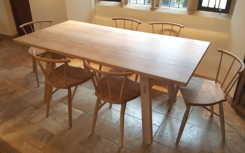 Dining table handmade in British Ash.