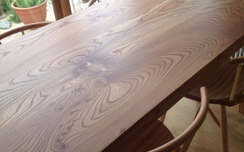 A table top in British Elm